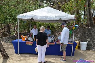 Windstar Cruises Beach BBQ Party bar, St