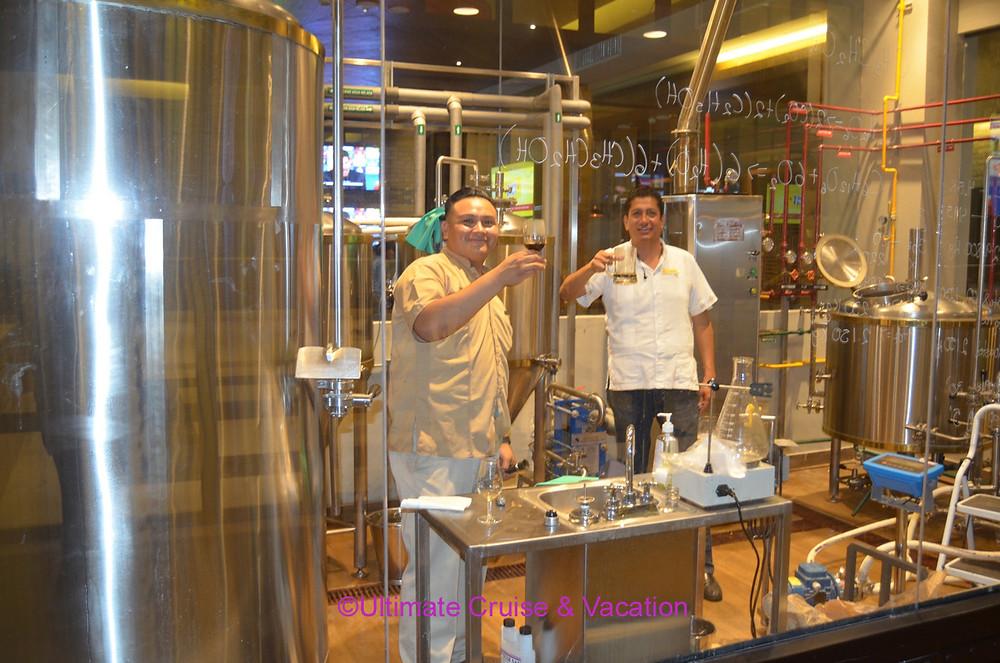 Brewers at work, Tres Cerveza's @ Hyatt Ziva Cancun