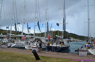 Sailing vessels at Nelson Dockyard Villa