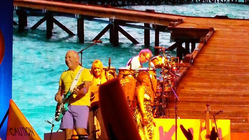 Jimmy Buffett in concert.