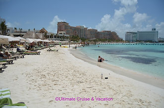 One of 3 beaches at Hyatt Ziva Cancun