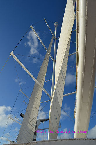 Wind Surf sails unfurled during a Sail Away