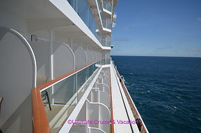 Balcony cabins, Norwegian Bliss