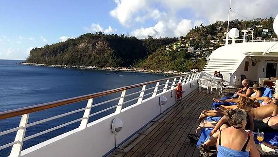 Windstar Star Breeze deck video in Dominica