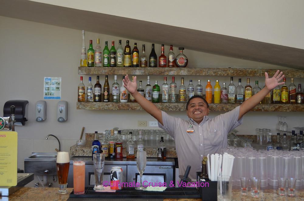 Friendly bartender at El Dorado Seaside Suites