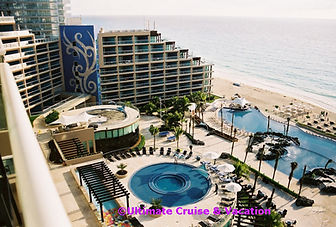 Balcony view of Hard Rock Hotel Cancun