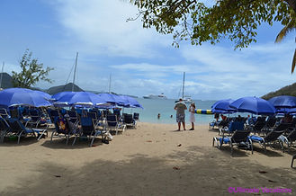 Windstar Cruises BBQ Beach Party set up,