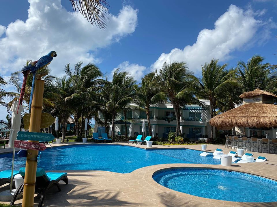 A pool at Margaritaville Island Reserve Riviera Cancun