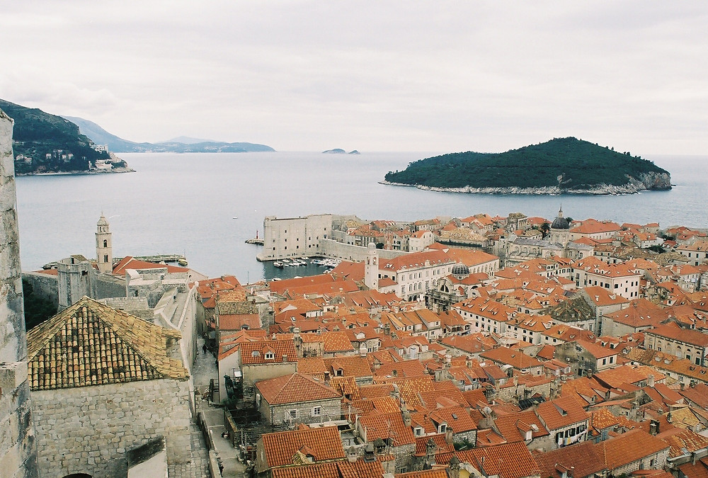 Dubrovnik, Croatia taken from Old city Wall by Justin French