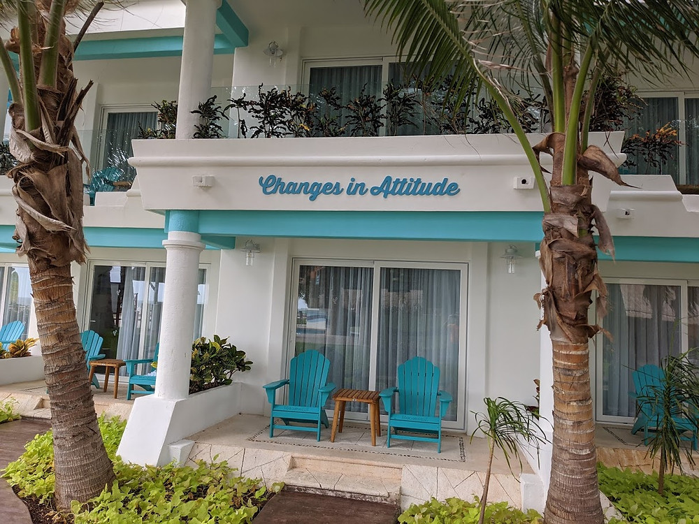 Changes in Attitude building at Margaritaville Island Reserve Riviera Cancun.