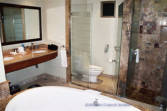 Bathroom are at Valentin Imperial Maya