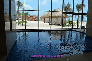 Indoor and outdoor Spa, Hyatt Ziva Cancun