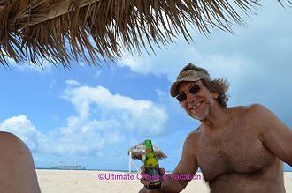 Jay French, Ultimate Vacations - on a lovely Barbuda beach