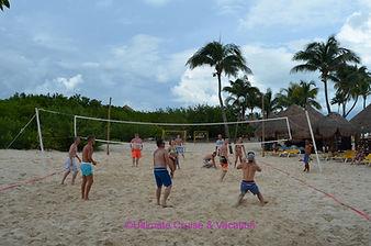 Beach volleyball at Iberostar Paraiso Maya