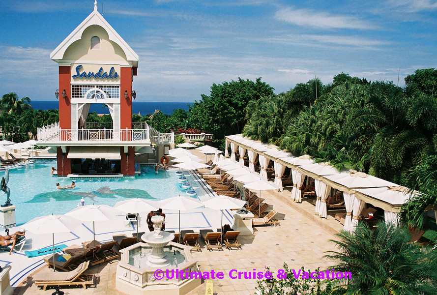 Great House Pool at Sandals Ochi in Jamaica.