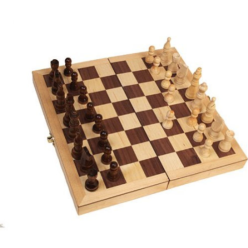 Inlaid Wood Chess Set