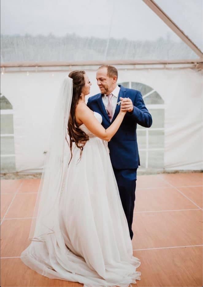 Warm Cherry Dance Floor - Beautiful wedding for the Davidsons