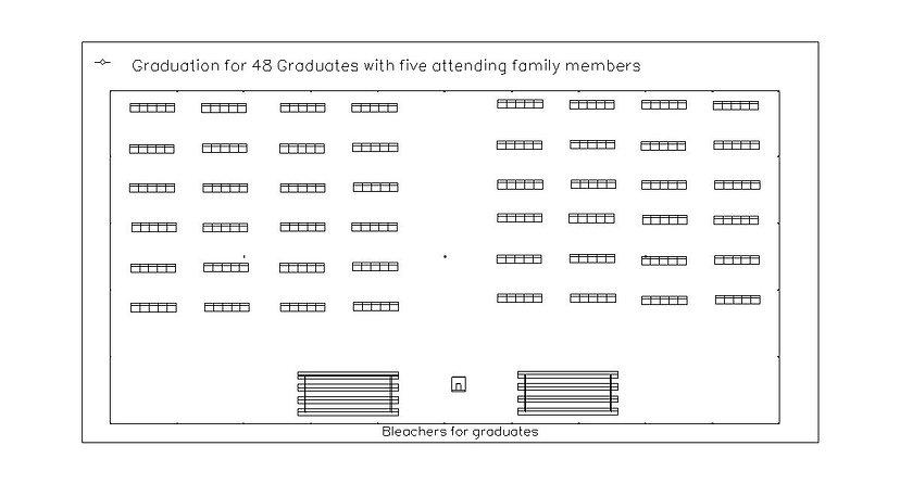 50x100 Socially distanced graduation.jpe