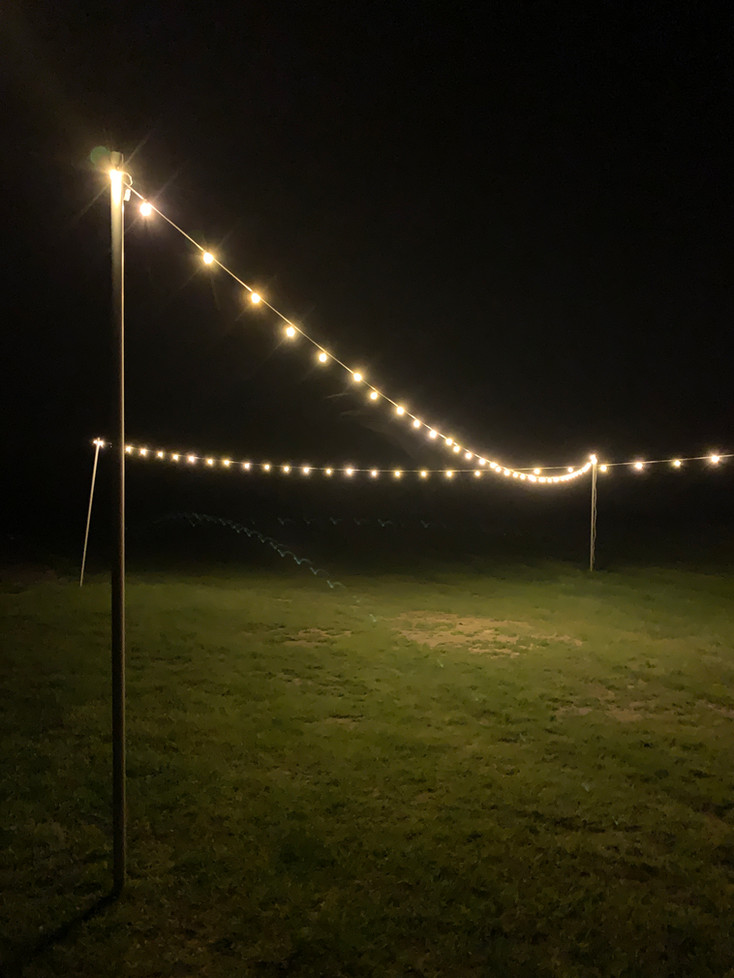 String Lighting (Outdoor installation)