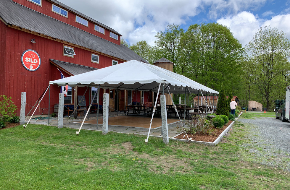 Frame Tent installed on Patio