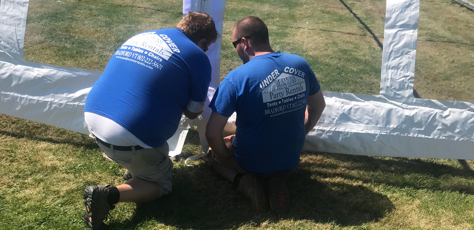 Installing 30'x Clear Top Frame Tent