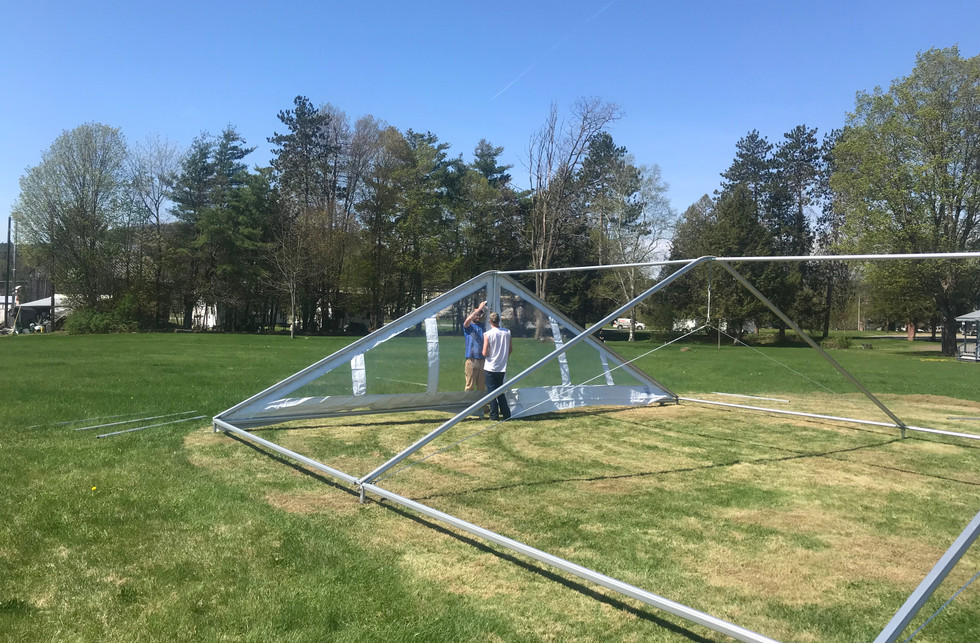 30'x Clear Top Frame Tent