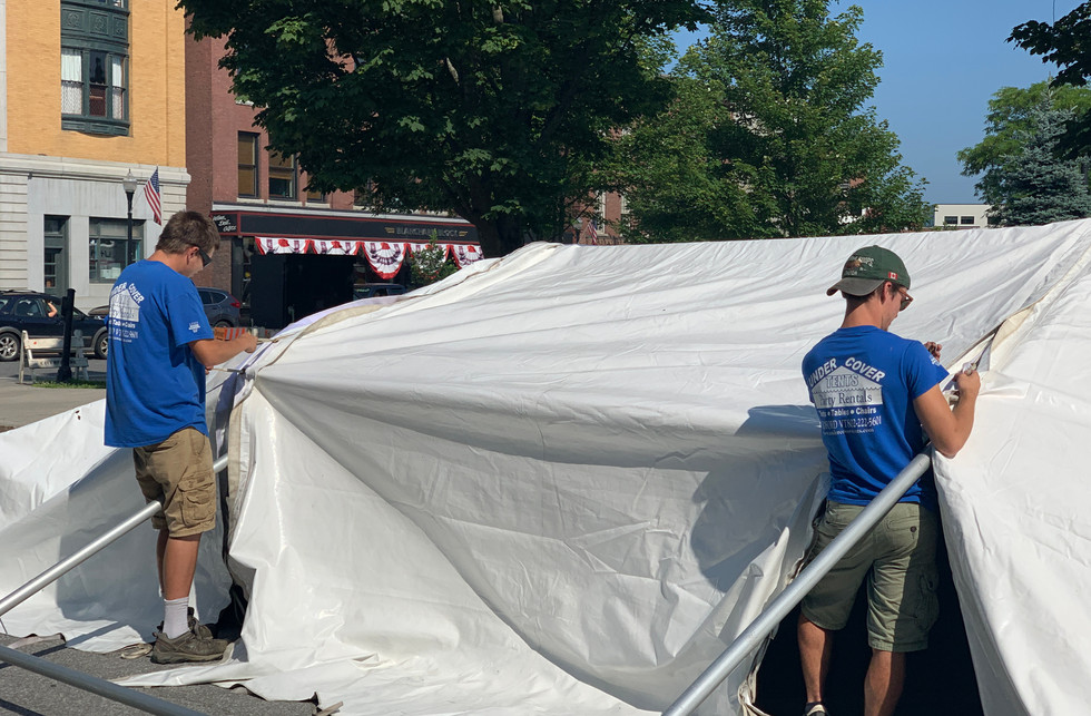 Setting up Frame Tent
