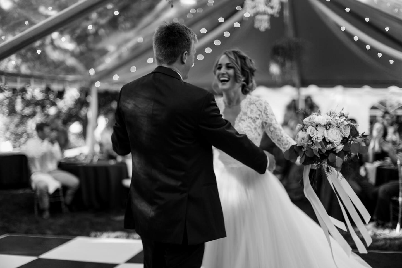 Wedding reception under a Clear Top