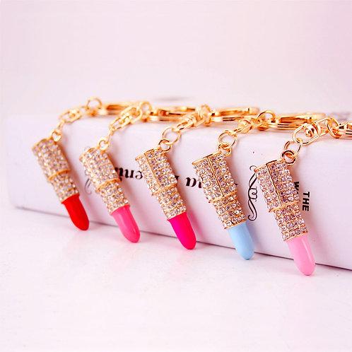 Lipstick Keychain Pendant