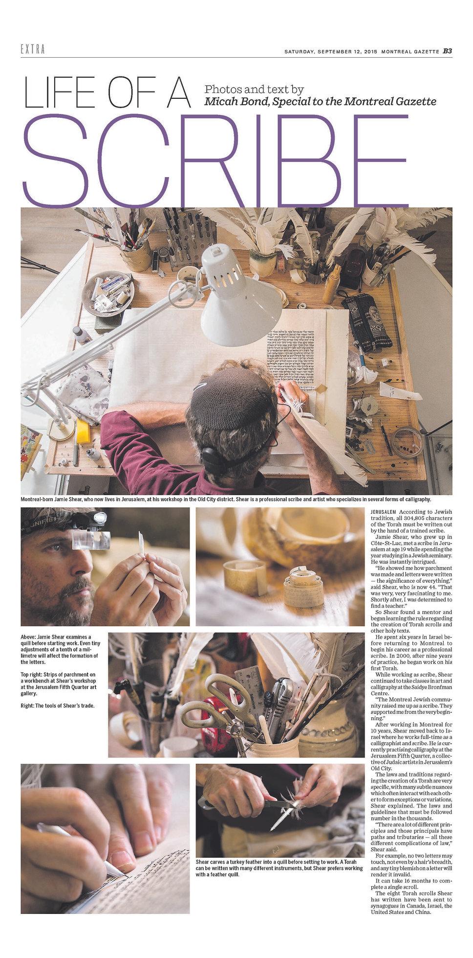 Montreal Gazette 2015
