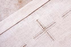 Hemp altar cloth with cross
