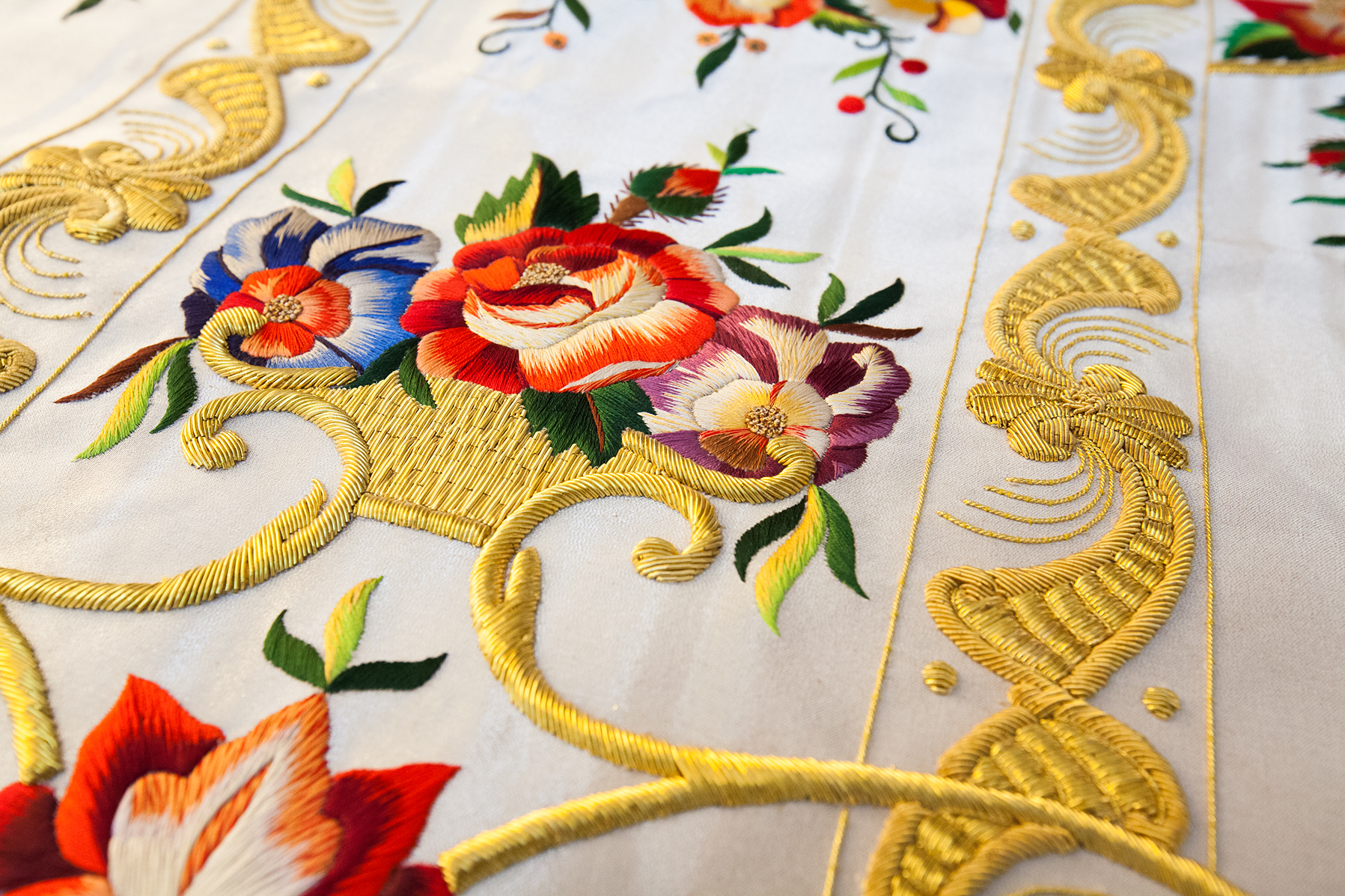 Hand embroideries for roman chasuble