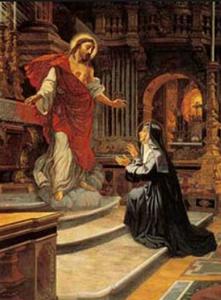 Visione del Sacro Cuore di Gesù a Suor Margherita Alacoque
