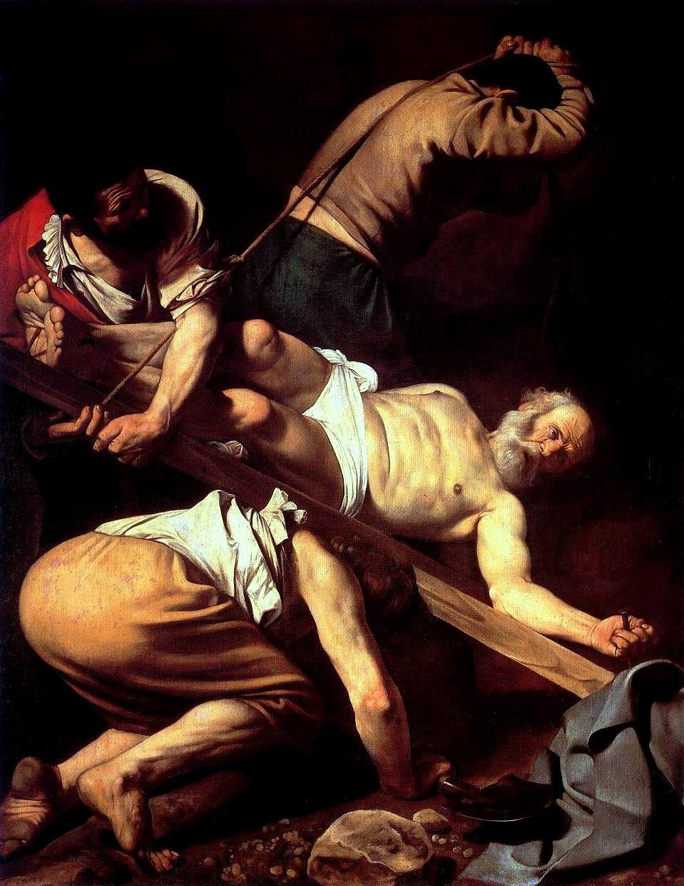 Caravaggio_Crocifissione di San Pietro_Martirio di San Pietro_ San Pietro crocifisso a testa in giù