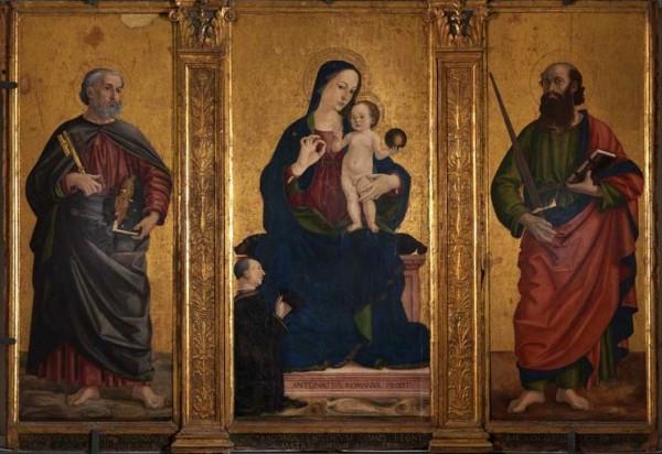 Antoniazzo Romano, Madonna con bambino e Santi Pietro e Paolo