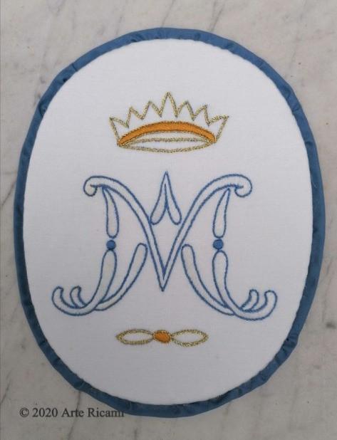 Stemma mariano per confraternite, mantelline per confraternite