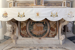 Altar cloth for church with lamb