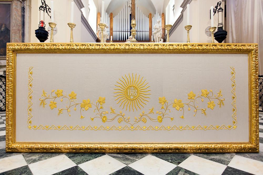 Paliotto per altare su misura