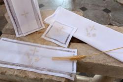 White Altar linens for church