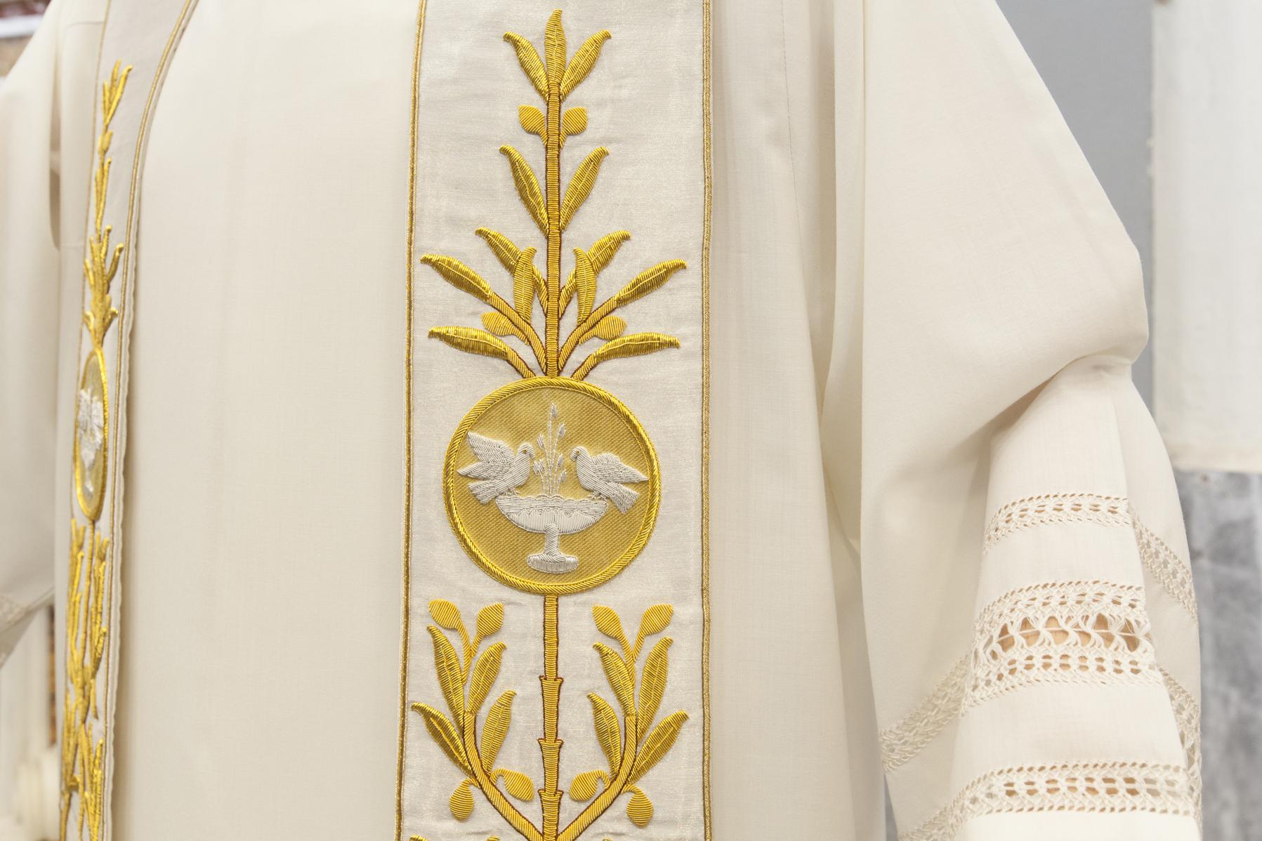 Stola sacerdotale con colomba