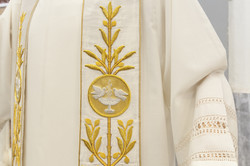 Priest stole with holy spirit symbol