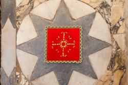 Palla per calice rossa con croce