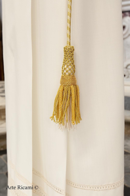 Cingolo sacerdotale con nappa in oro