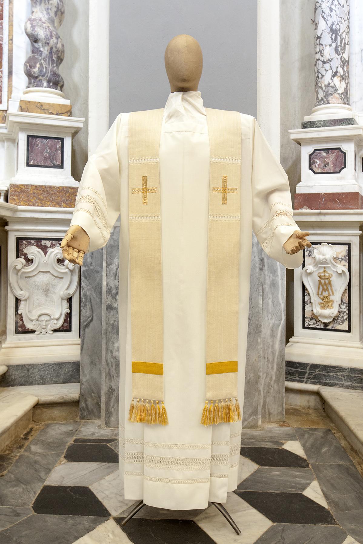 Stola sacerdotale semplice bianca