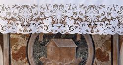 Main altar cloth for mass