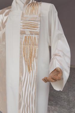 White Priest stoles in pure silk