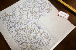 Cutwork embroidery pattern for altar