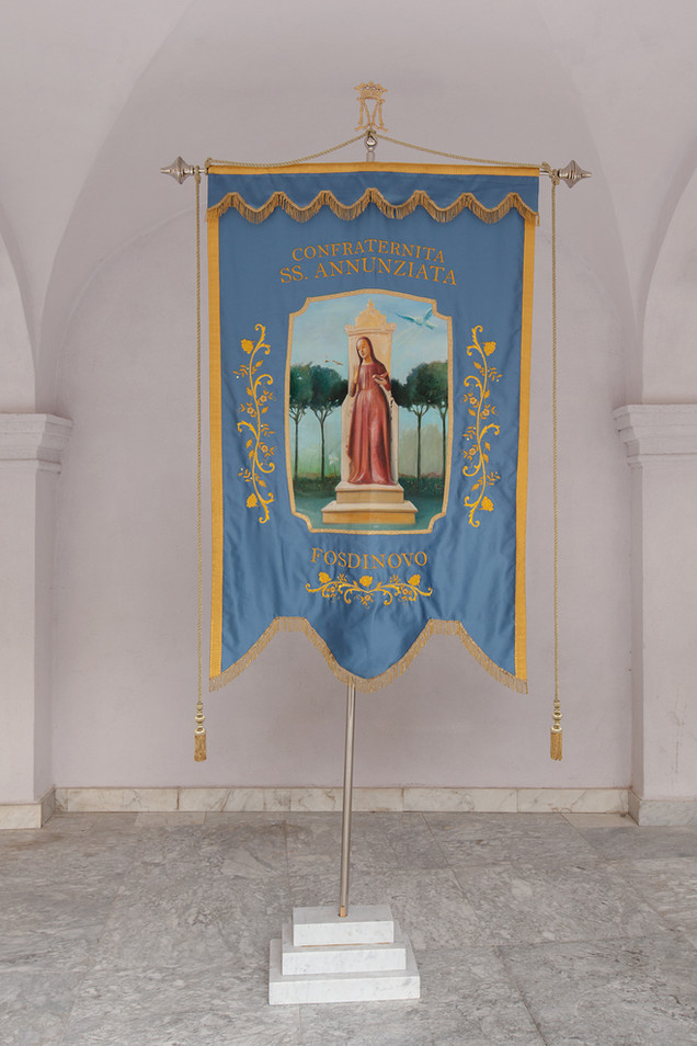 Coats of arms and church banners