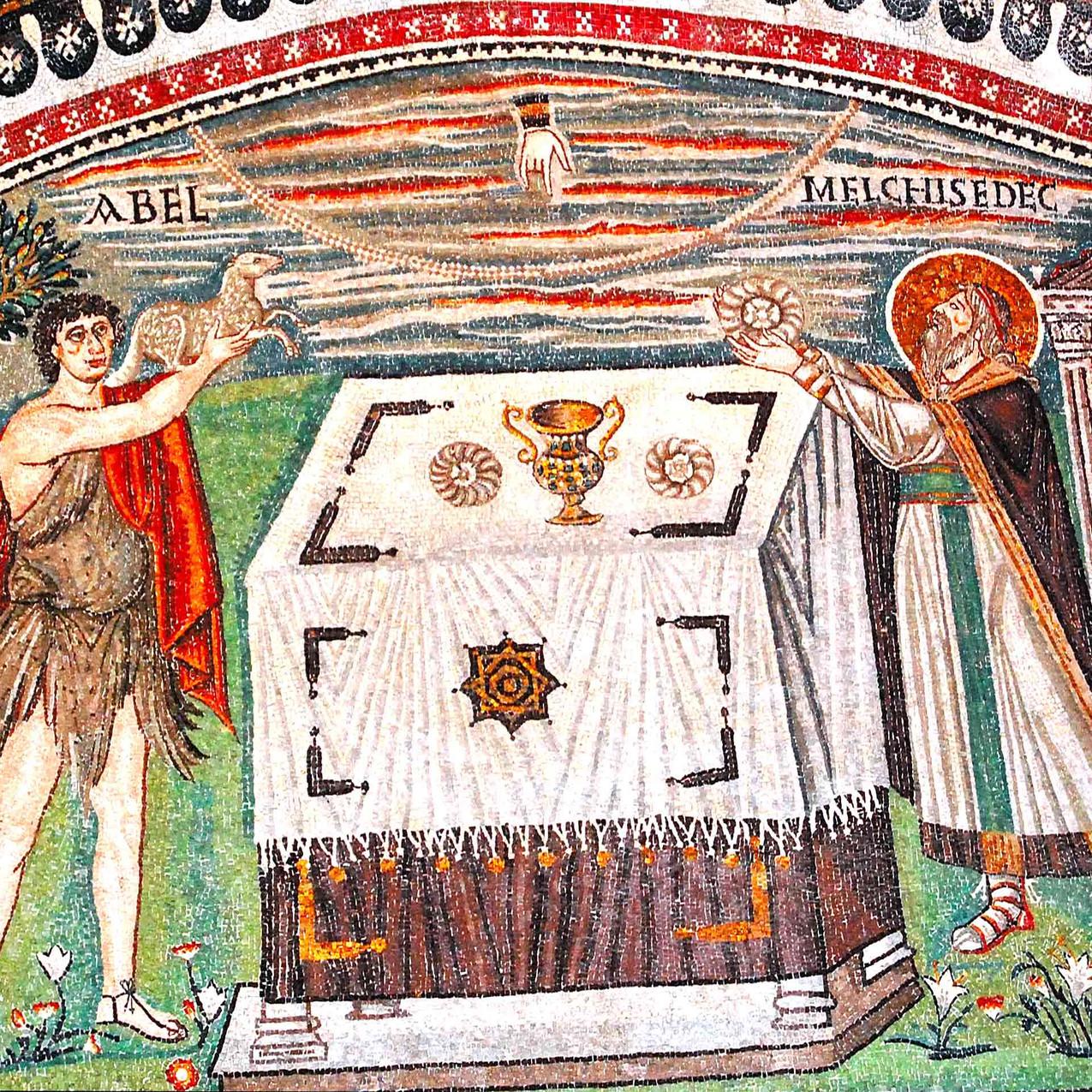 Mosaico della Basilica di San Vitale di Ravenna.