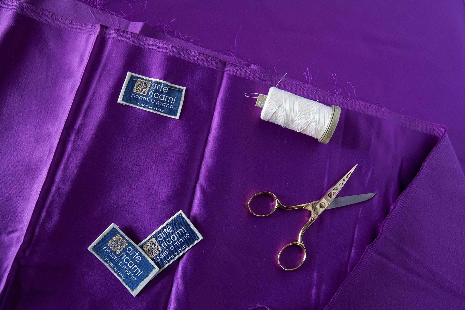 Purple pure silk of Arte Ricami